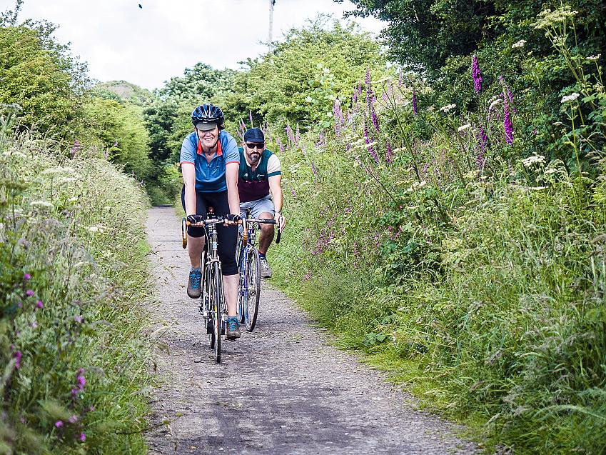 Two cyclists in Cornwall