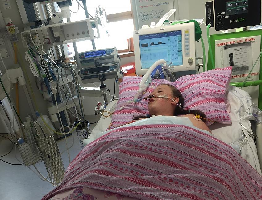 Eve Berry in hospital