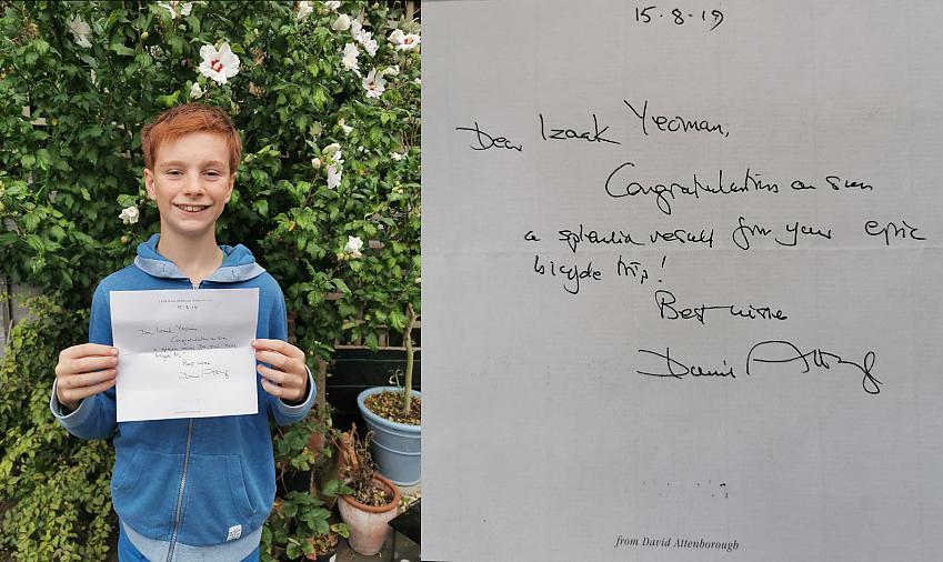 Sir David Attenborough letter