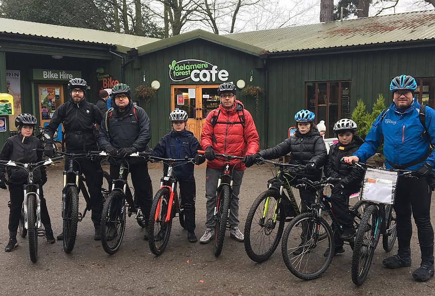 Ben putting his Cycling UK MTB Leader qualification to good use with members of the Anfield/Everton Community Mountain Biking Project