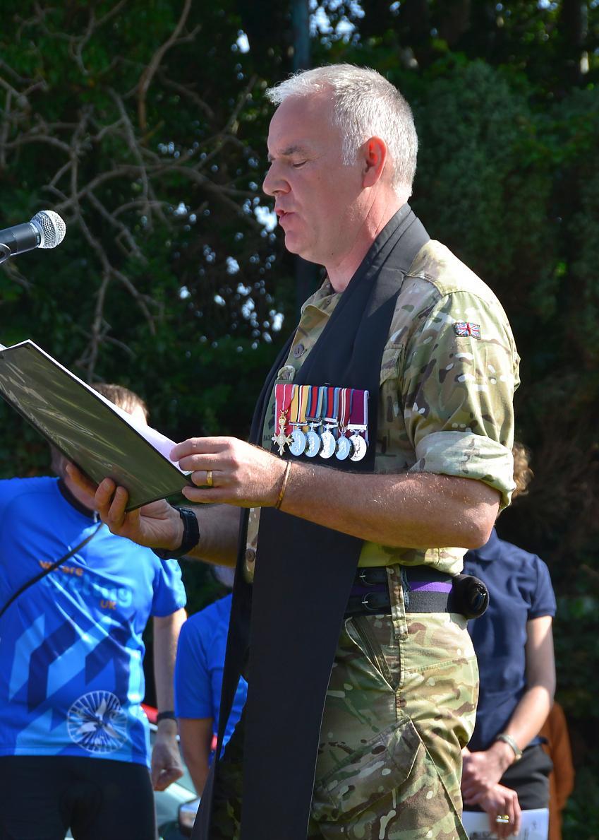 Rev Antony Feltham-White OBE leading the Meriden Memorial Service. Photo by Derek Churchard
