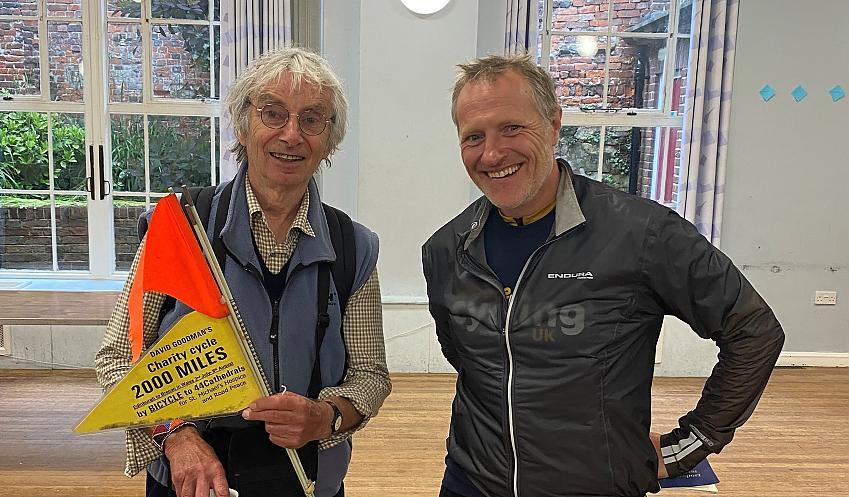 David Goodman, left, meets Shaun Cutler in Portsmouth in June 2021