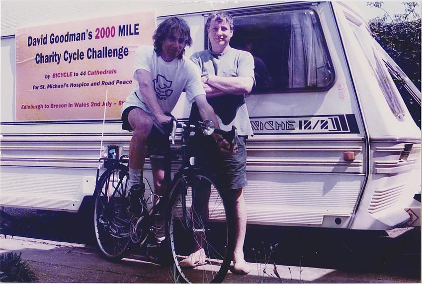 David with his brother Ken and the back-up caravan