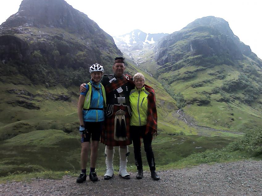 women cycling Glen Coe
