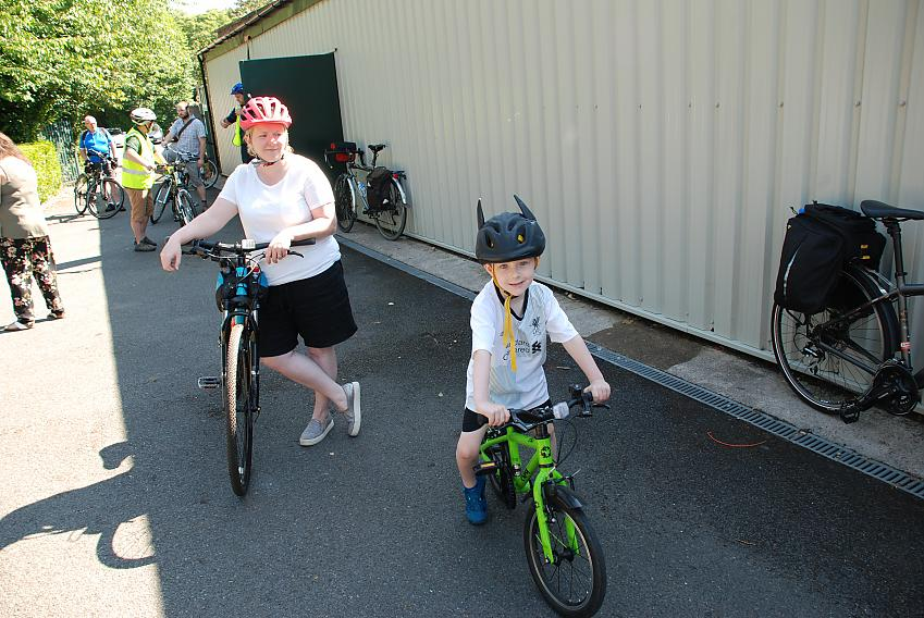 Helen McIlroy of Liverpool Loopline Ladies Cycling Club and her son Cillian