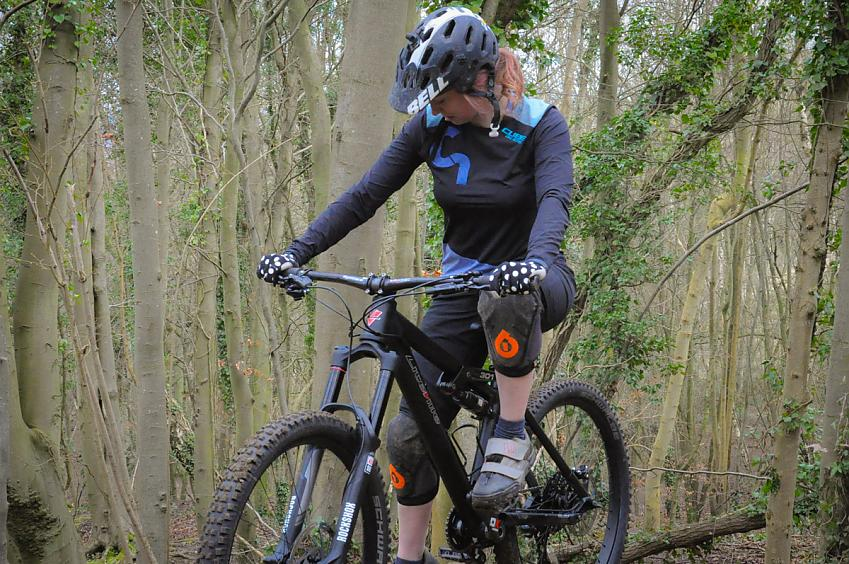 Anna Cipullo wears kit for enduro riding