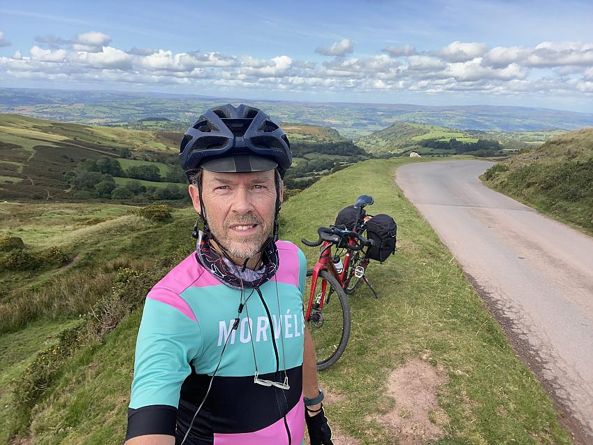"""""""#WBBR2020 lovely day cycling up through Usk, Abergavenny over Gospel Pass to Builth. Highest road in Wales."""""""