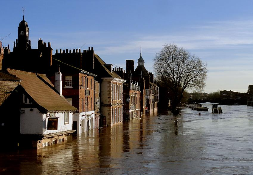 York in the flood