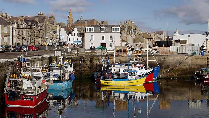 Fraserburgh harbour, Aberdeenshire