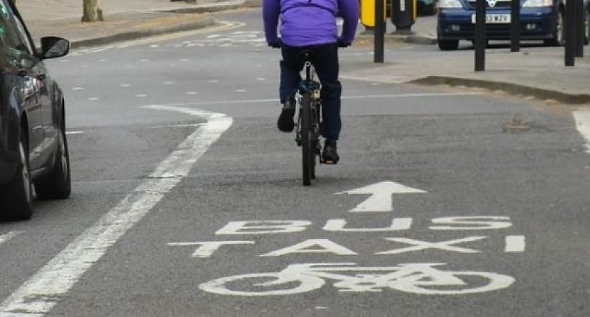 The cycle and bus lane at Friar Gate, Debry, which is under threat.