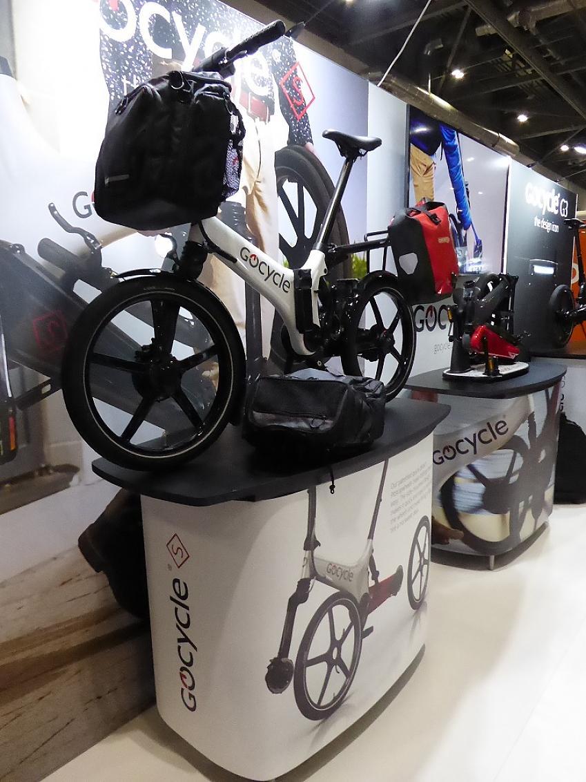 GoCycle GX can accomodate plenty of luggage