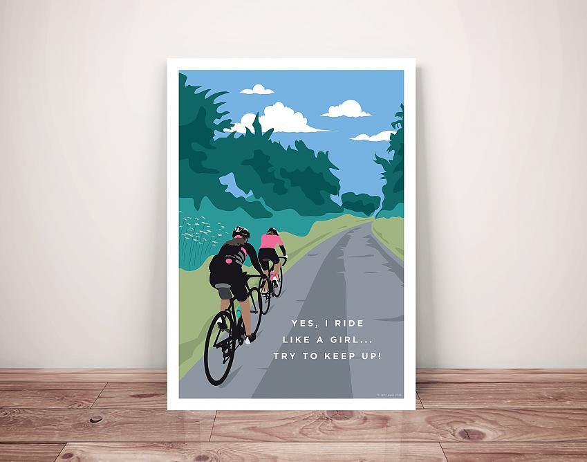 Jen Lewis Cycling Art. I ride like a girl