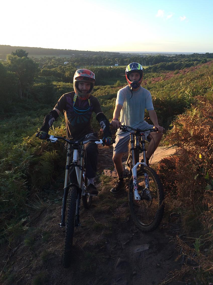 Ed out on the local trails in Heswall, Wirral