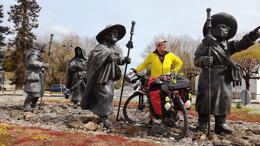 Pilgrim on an e-bike