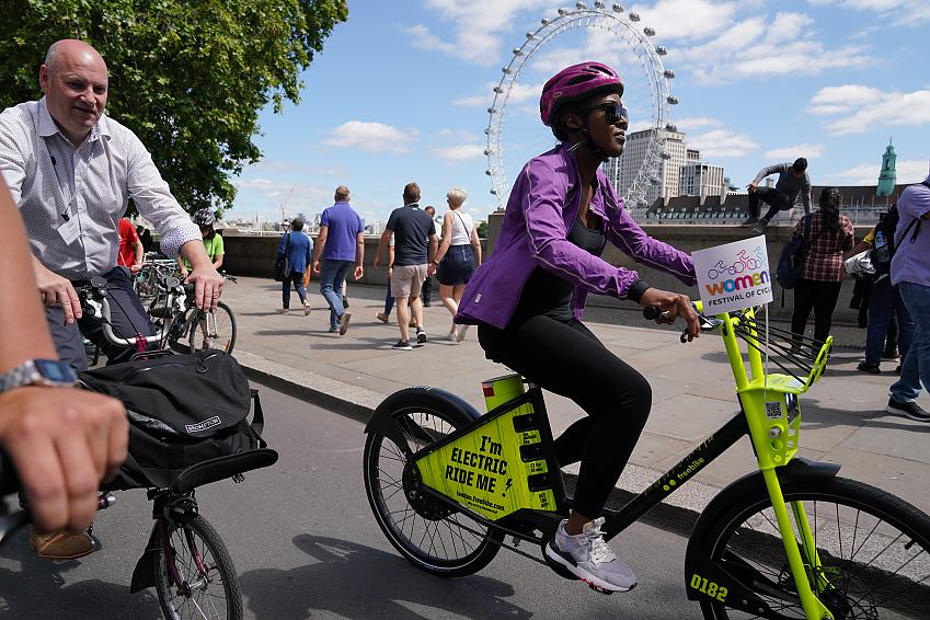 Angellica Bell was among the women riding on Parliament
