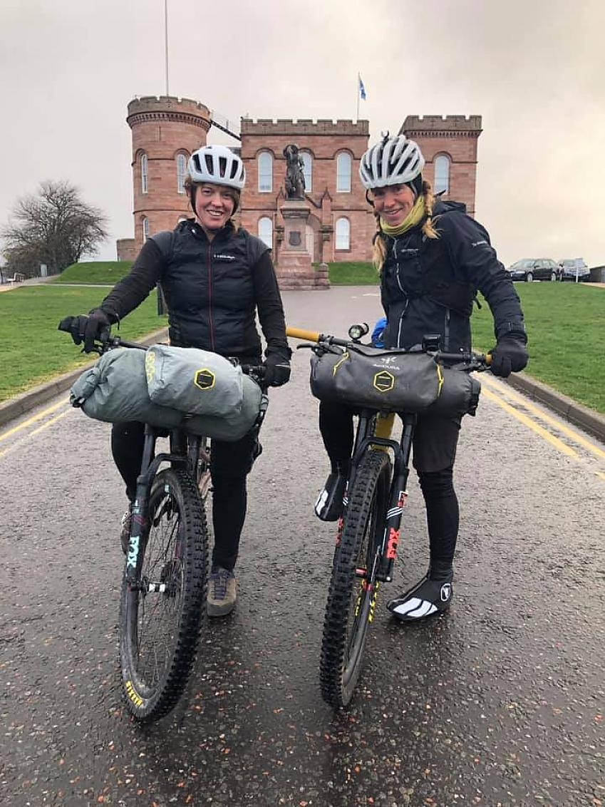 Jenny Graham and Lee Craigie set off from Inverness