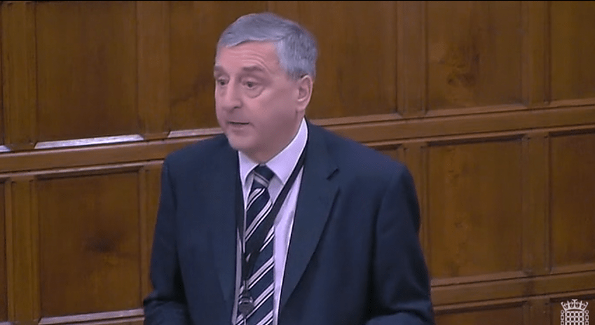 Jim Fitzpatrick MP highlighted Cycling UK's campaign in his speech