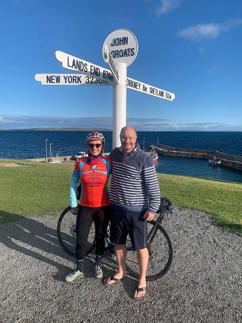 At the half way point John o' Groats