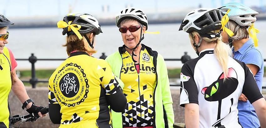 Cycling club meeting up
