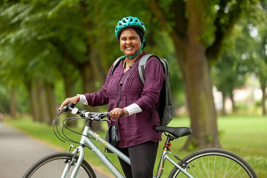 Joyce from Cycle Sisters is thrilled to be cycling