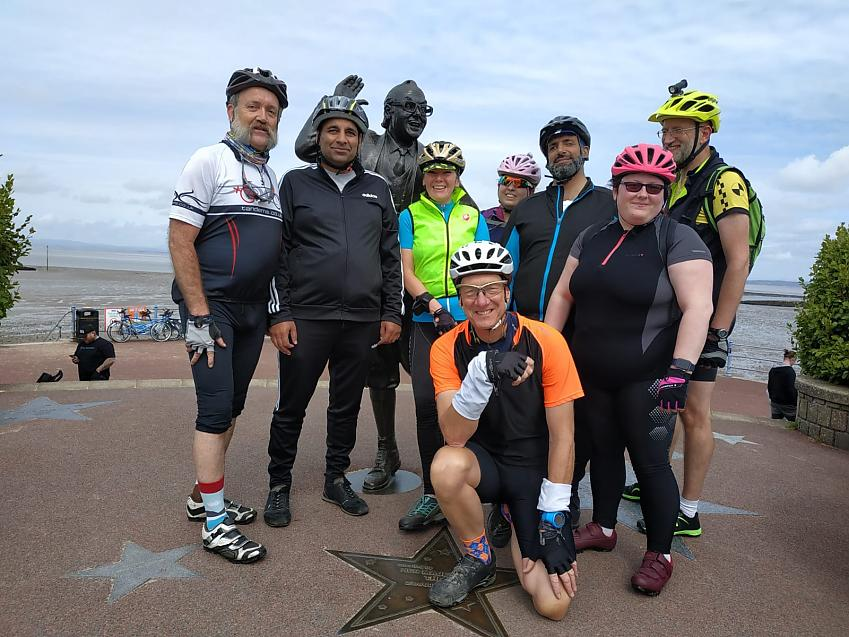 group of cyclists from tandem club