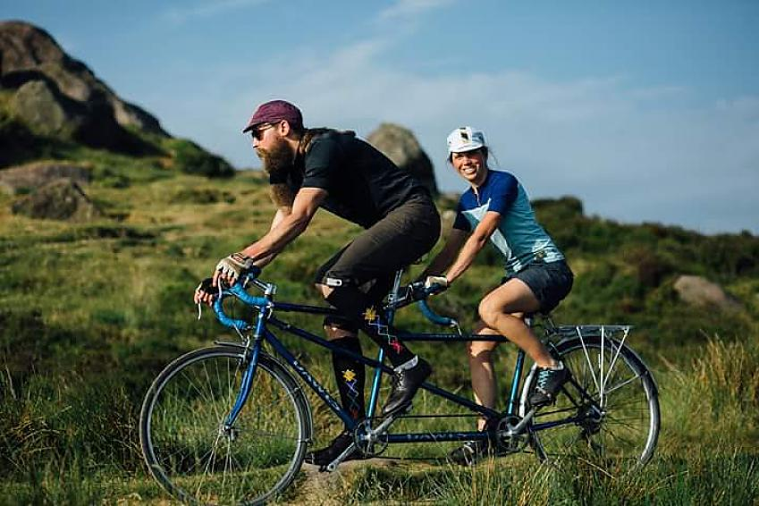 Laura and Stevie on their Dawes Galaxy twin