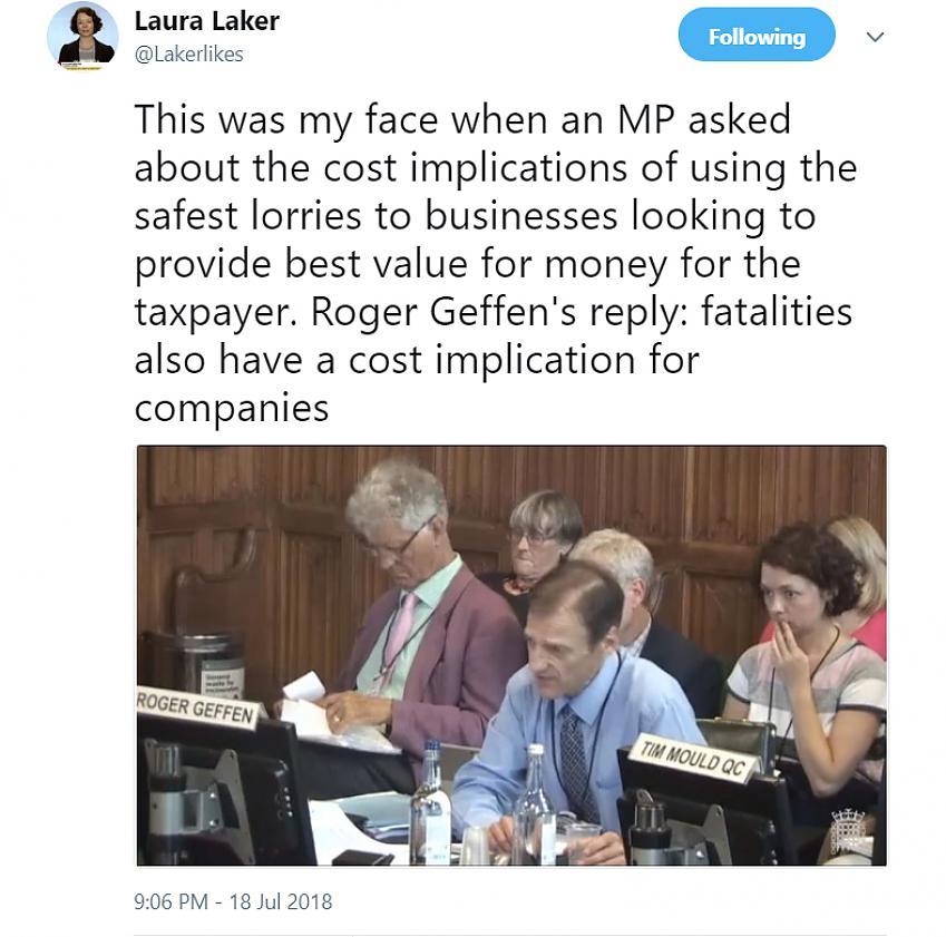 Laura Laker's Tweet