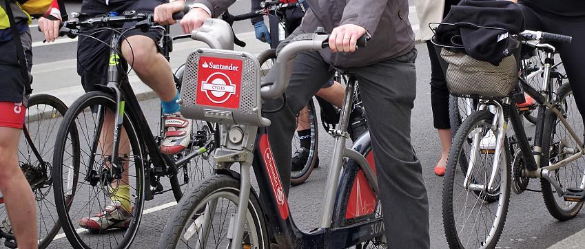 Santander bike in use