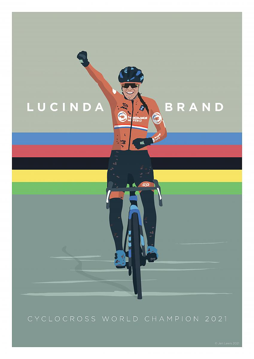 Lucina Brand cycling art by Jen Lewis