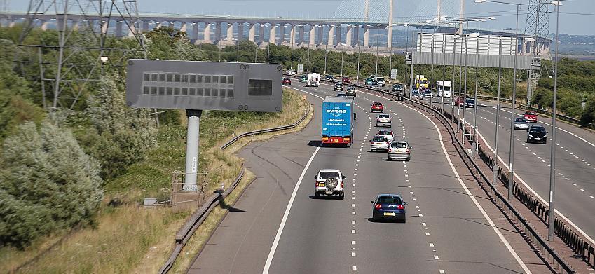 M4 motorway in south Wales