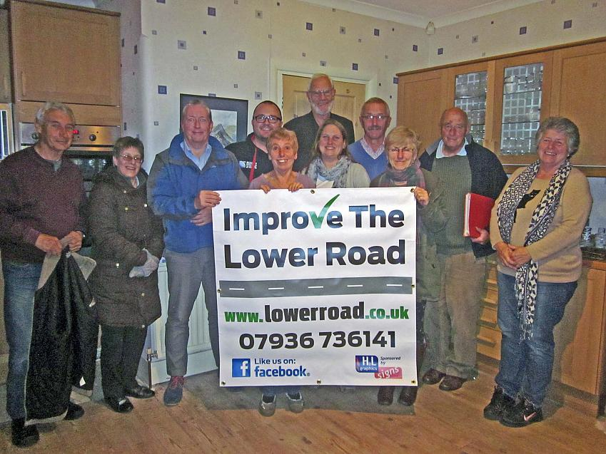 Campaigners on Lower Road, Isle of Sheppey