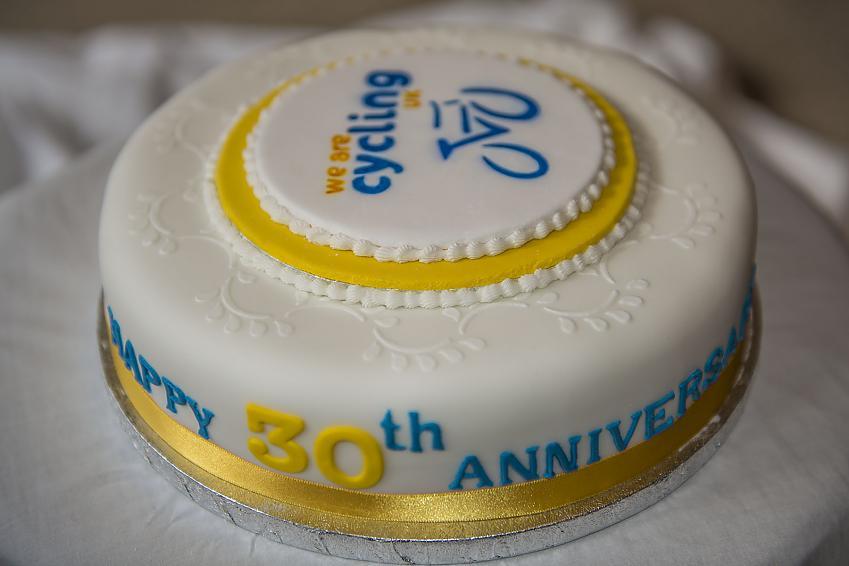 CTC Grampian's beautiful 30th birthday cake.  Photo by John Tuckwood