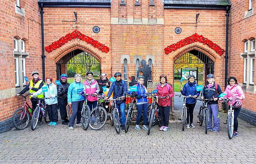 Members of the Walsall Arboretum Community Cycle Club