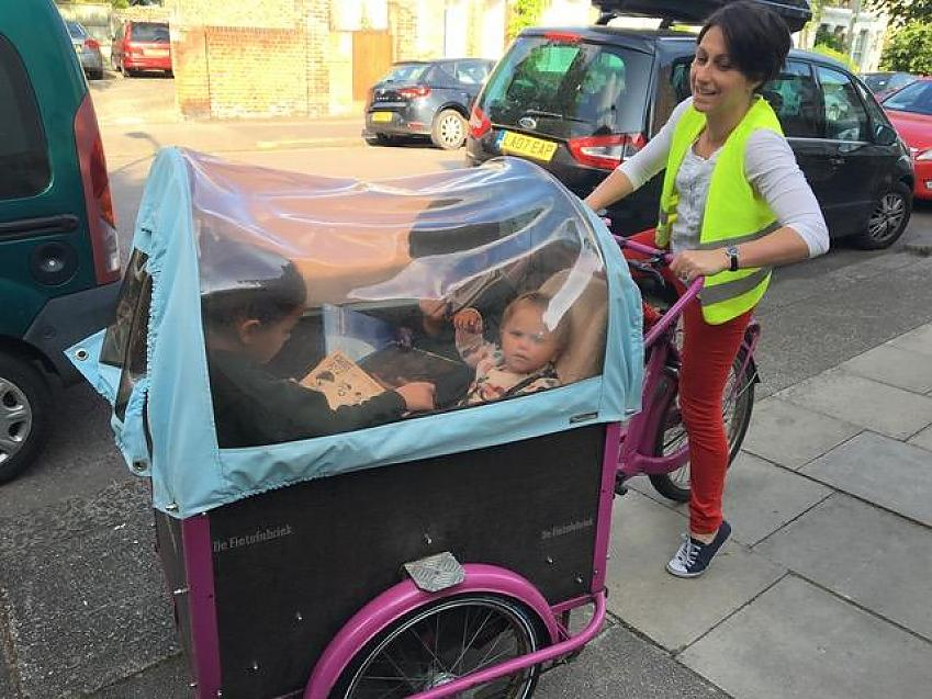 Patti Zogolovitch and her cargobike