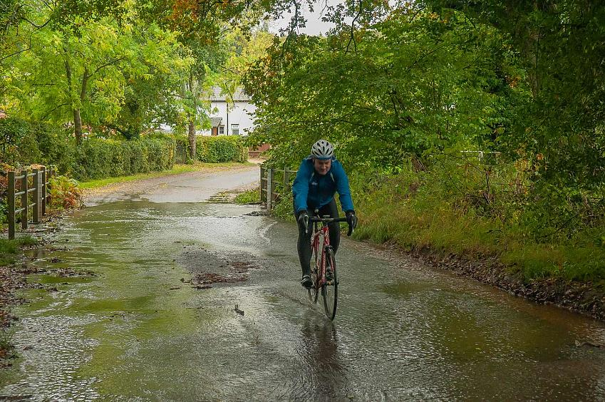 Rider going through a ford. Photo by Peter Cornish