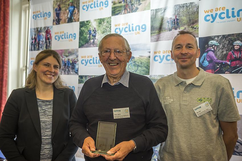 Peter receiving his award