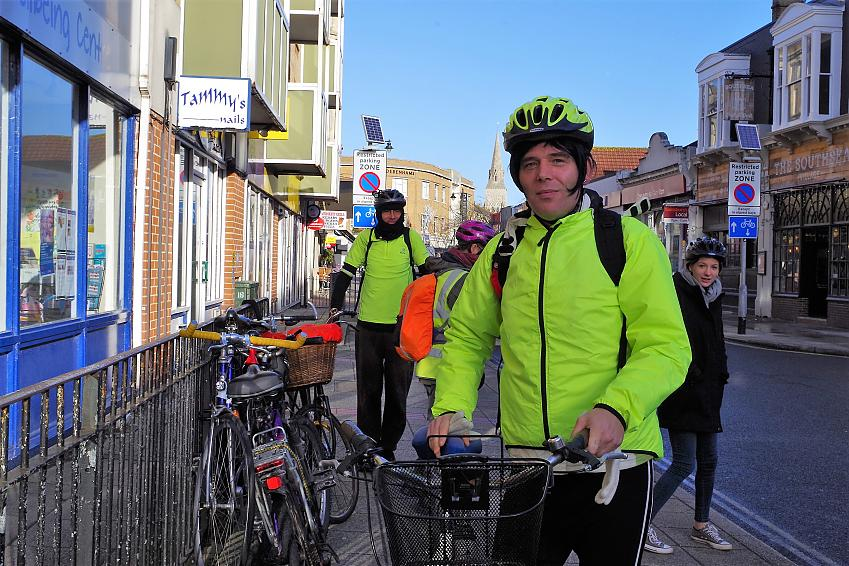 Priscilla Bridges, who rides with Solent Mind Community Cycle Club