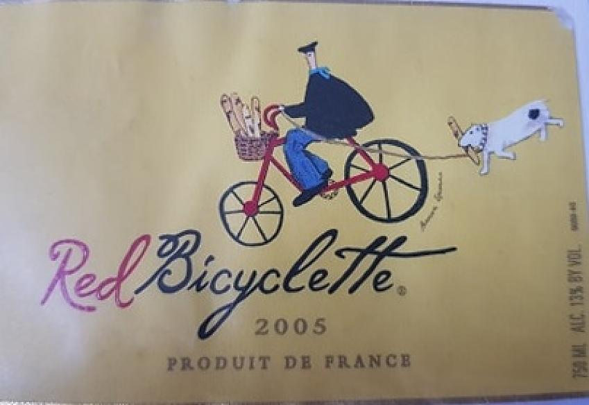 Red bicyclette label