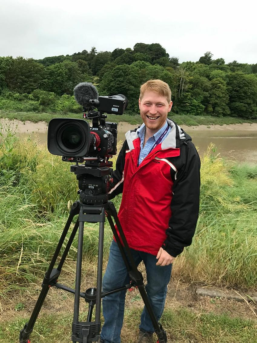Cycling UK's video producer Robby Spanring