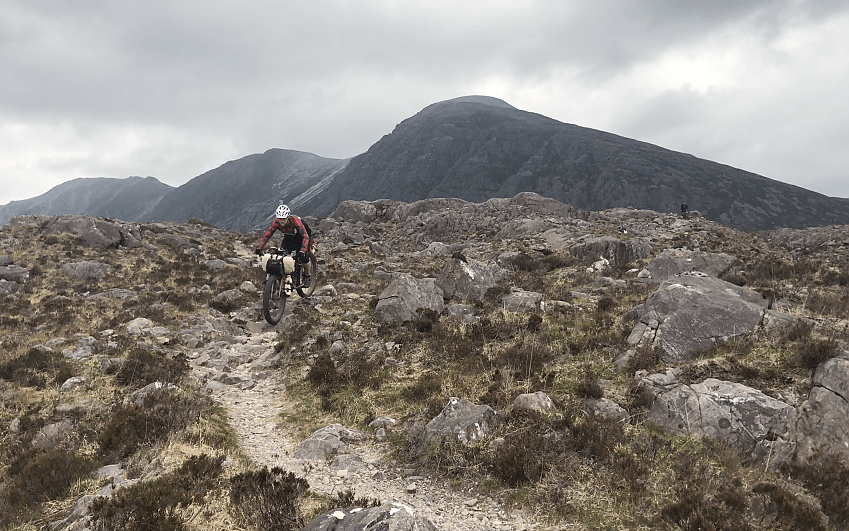 Barry Godin on one of his solitary bikepacking trips