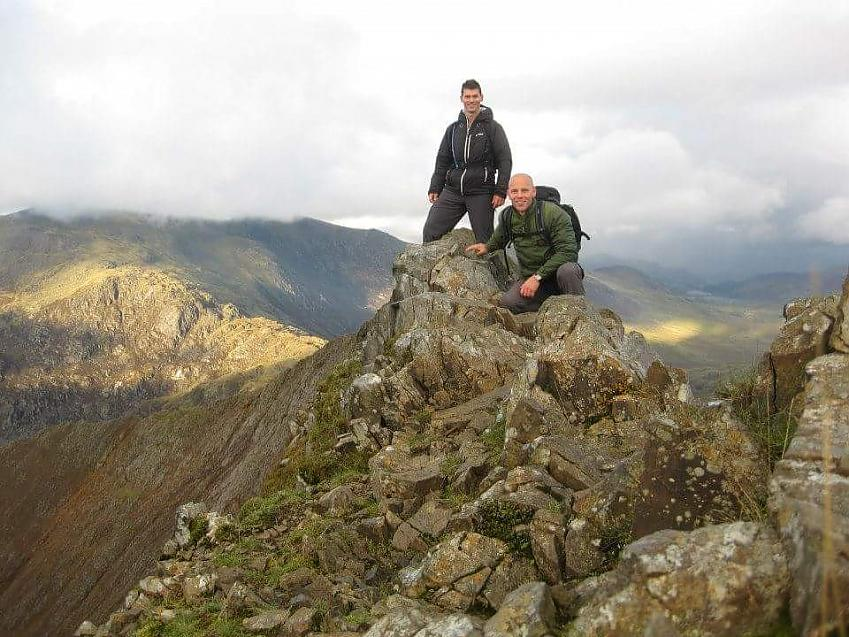 Simon and Joe on a previous trip to Snowdon