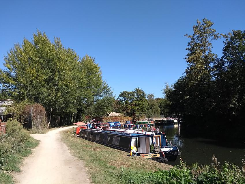 Colourful canal boats