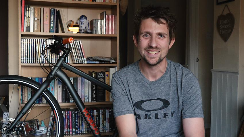 Stephen Greenham six months after his pothole incident