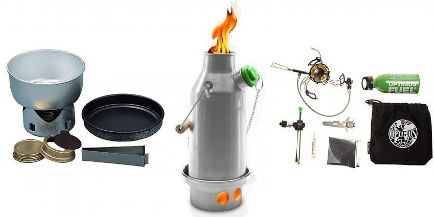 Selection of camping stoves
