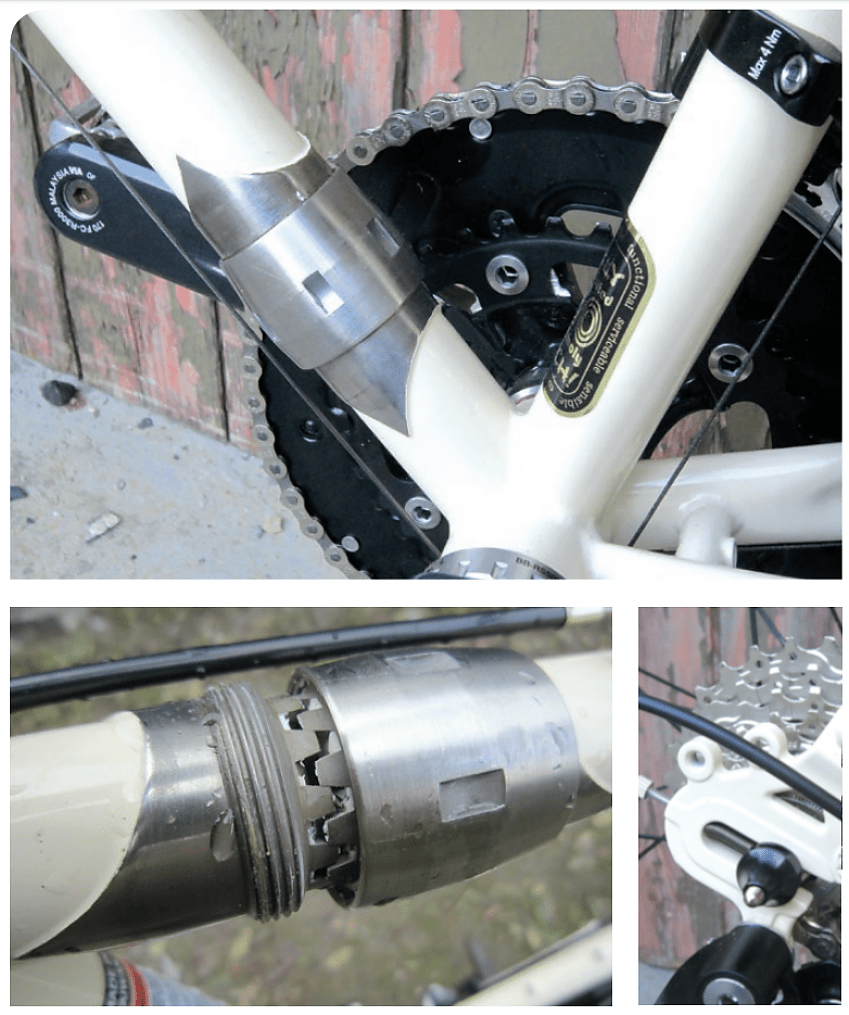Separated joints need to be kept clean. No loss of strength/stiffness at joint. Dropouts allow singlespeed/hub gear use