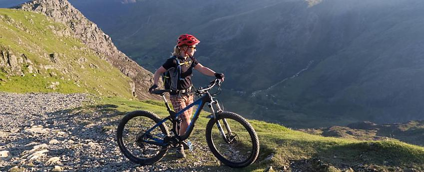 Enjoying an early morning on one of the bridleways on Snowdon. Photo - Tom Hutton