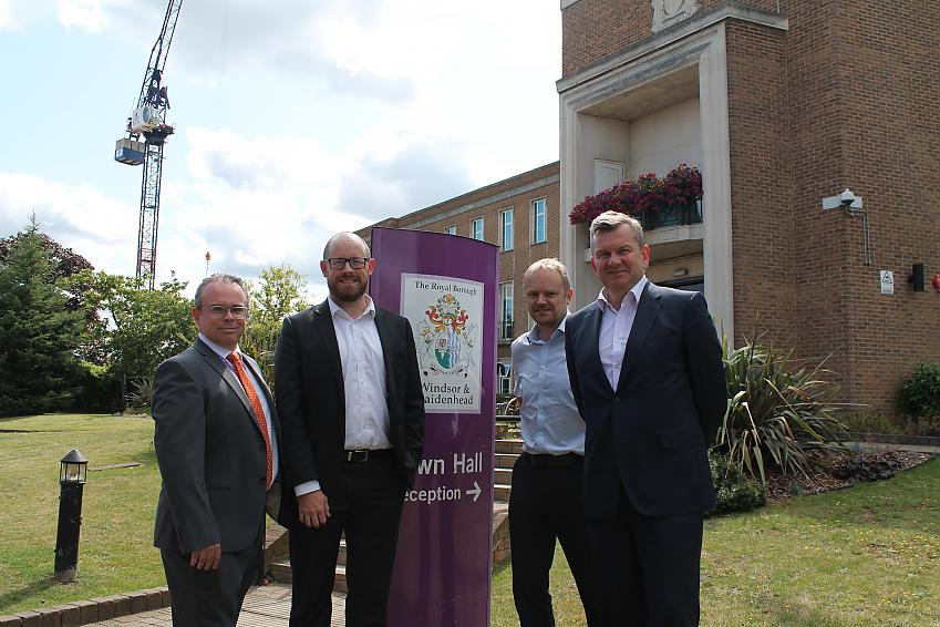 Duncan Sharkey (Managing Director for the Council), Colin Walker (British Cycling), Duncan Dollimore (Head of Campaigns, Cycling UK), Simon Dudley (Leader of the Council)