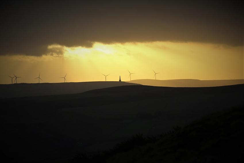 View of Stoodley Pike from Warley Moor.  Photo by Halifax Imperial Wheelers