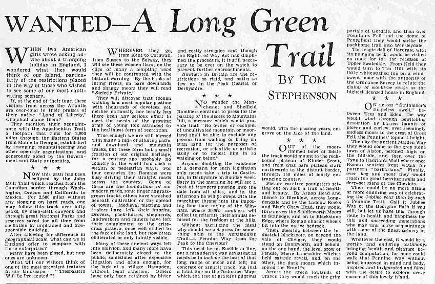 A Long Green Trail'