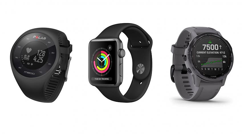 Polar M200, Apple Watch Series 3, Garmin Fenix 6S Pro Solar Edition